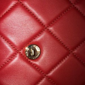 CHANEL Bags - Chanel dark red clutch
